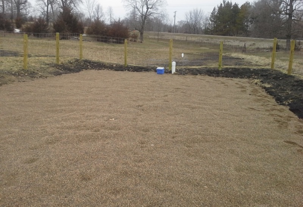 Figure 1. Site photo of Iron Enhanced Sand Filter for Treating Agricultural Drainage.